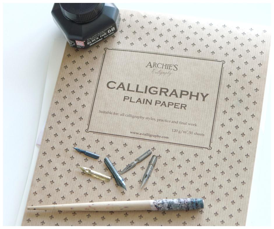 Kaligrafia nowoczesna – moje początki ze stalówkami