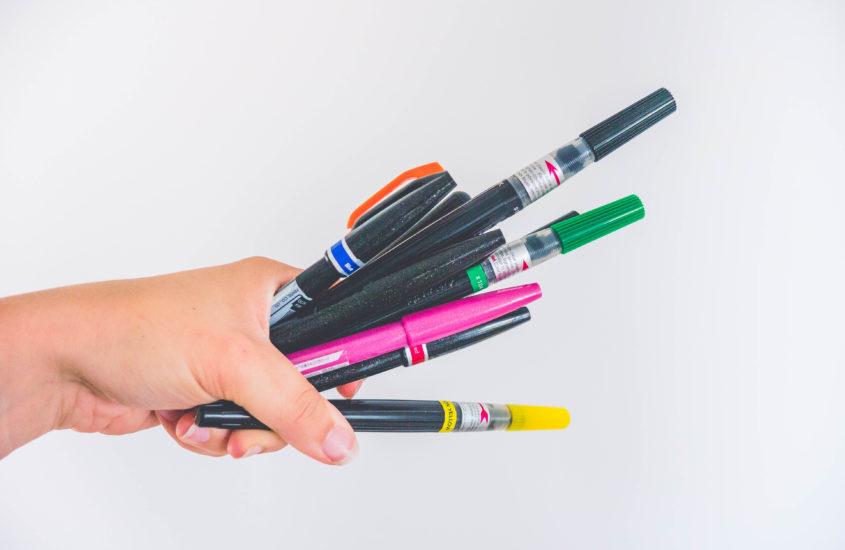 Brush pen – rodzinka PENTELI